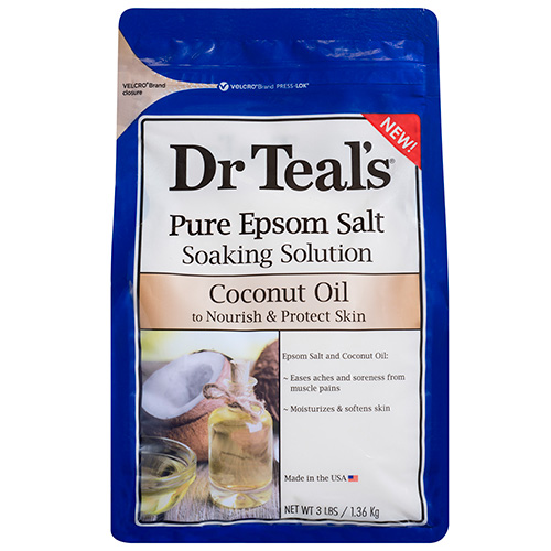 Pure Epsom Salt Soaking Solution with Coconut Oil